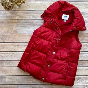 Old Navy | Red Puffer Vest